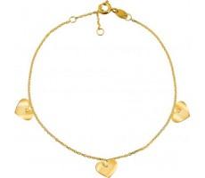 Bracelet 3 cœurs