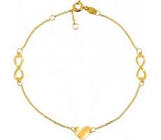 Bracelet cœur et infini