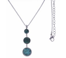 Collier amazonite et malachite