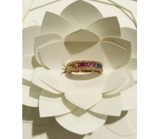Bague Or rose diamants et...