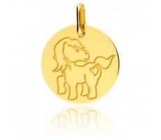 Médaille enfant poney