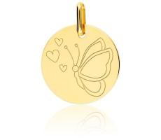 Médaille enfant papillon